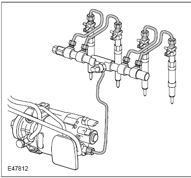 fig 1 38 High pressure fuel lines and leak off pipes